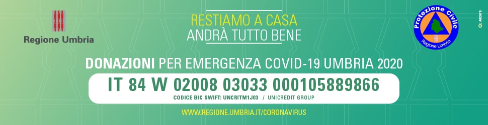 Pop up – Regione Umbria Coronavirus – 17 marzo 2020